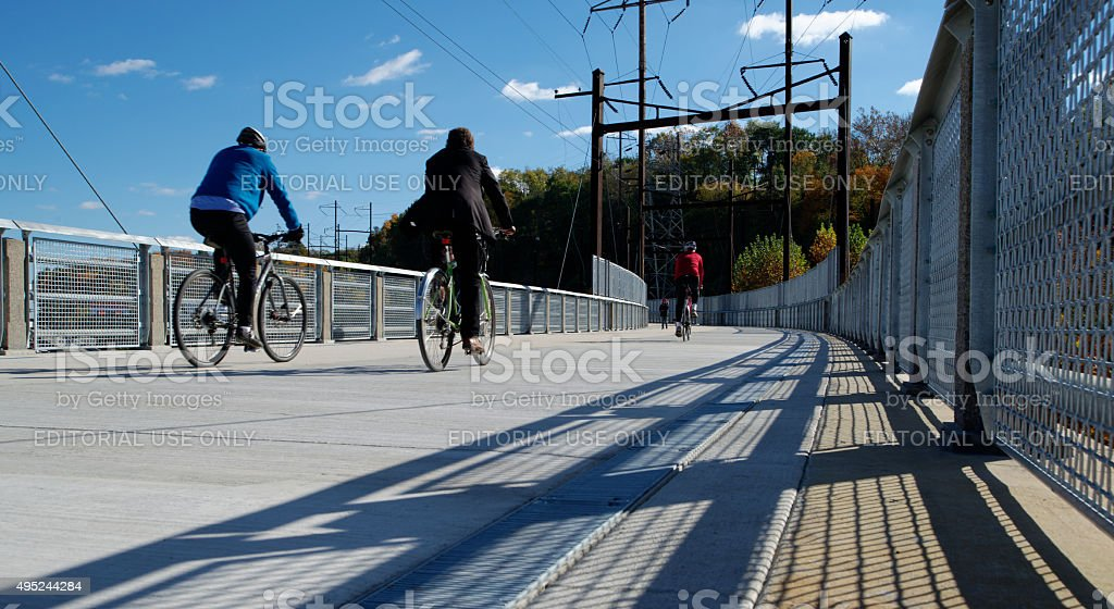 Manayunk Bridge Trail stock photo