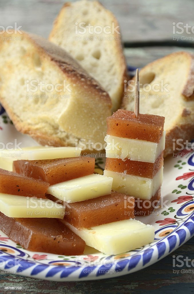 Manchego Cheese and Quince Paste stock photo