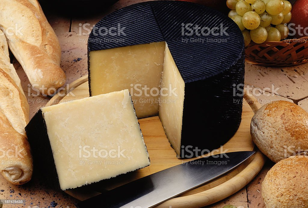 Manchego Cheese stock photo