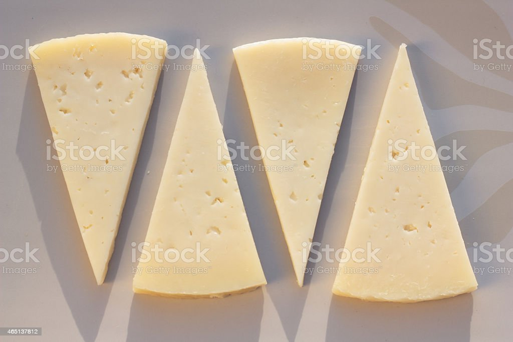 Manchego cheese. stock photo