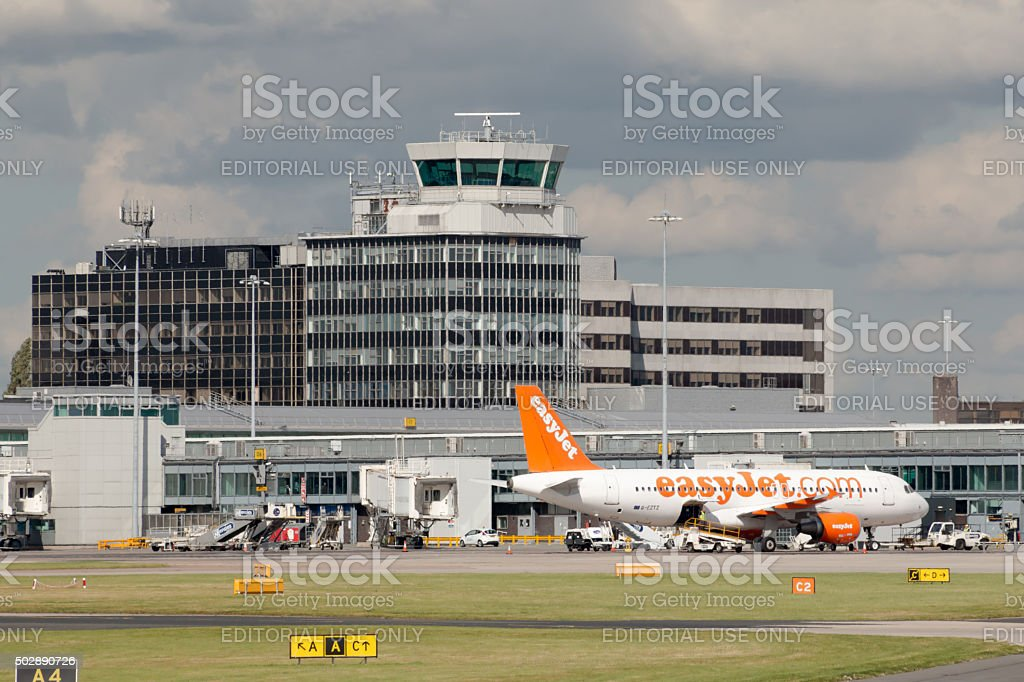 Manchester Airport stock photo