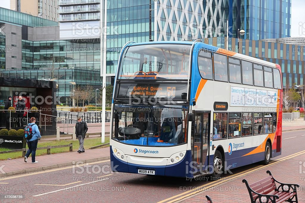 Manchester bus stock photo