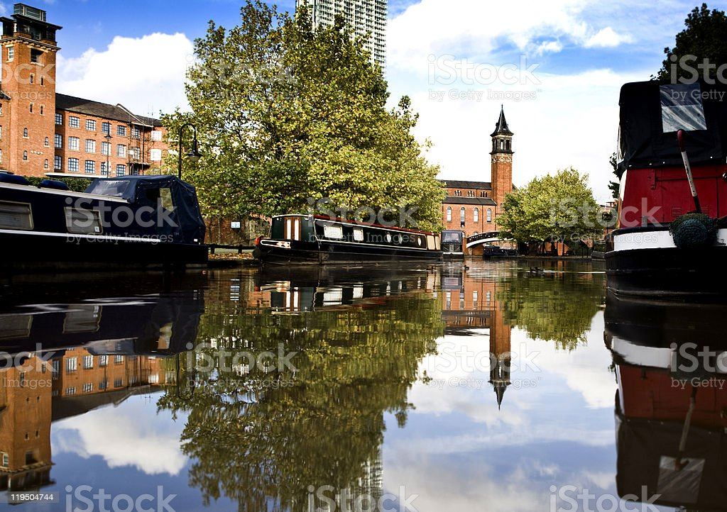 Manchester canal-scape stock photo
