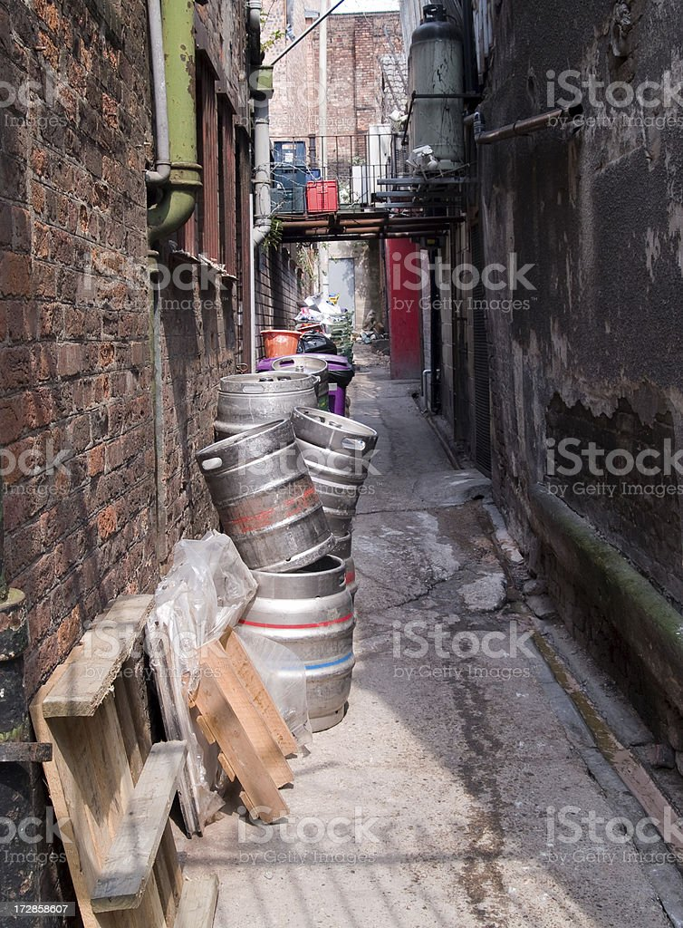 Back alley beer stock photo