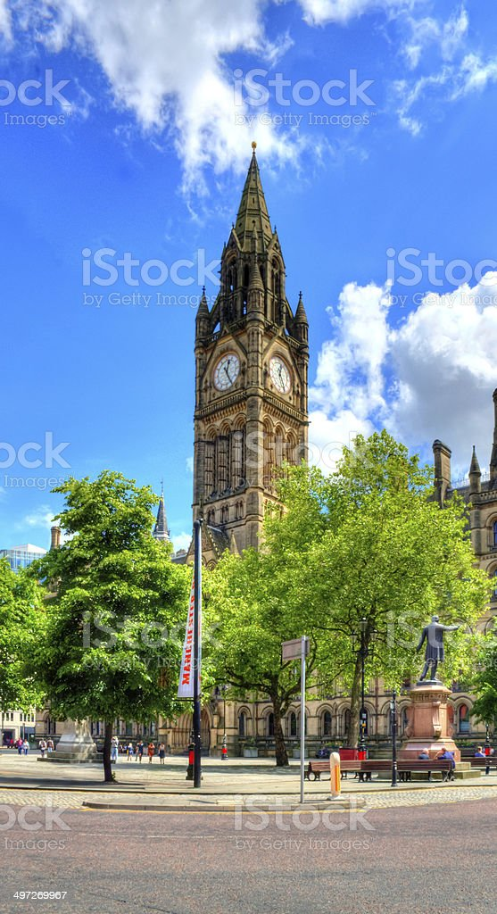 Manchester City Hall royalty-free stock photo