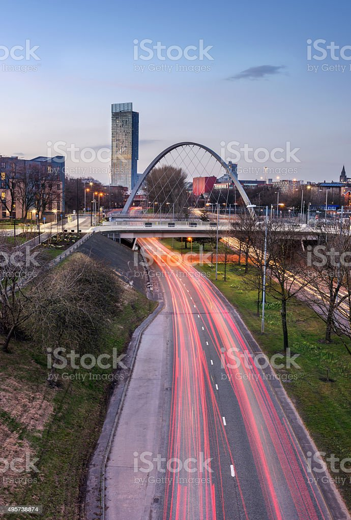 Manchester England stock photo