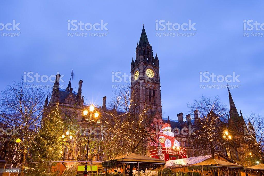 Manchester, England, UK, Christmas Market royalty-free stock photo