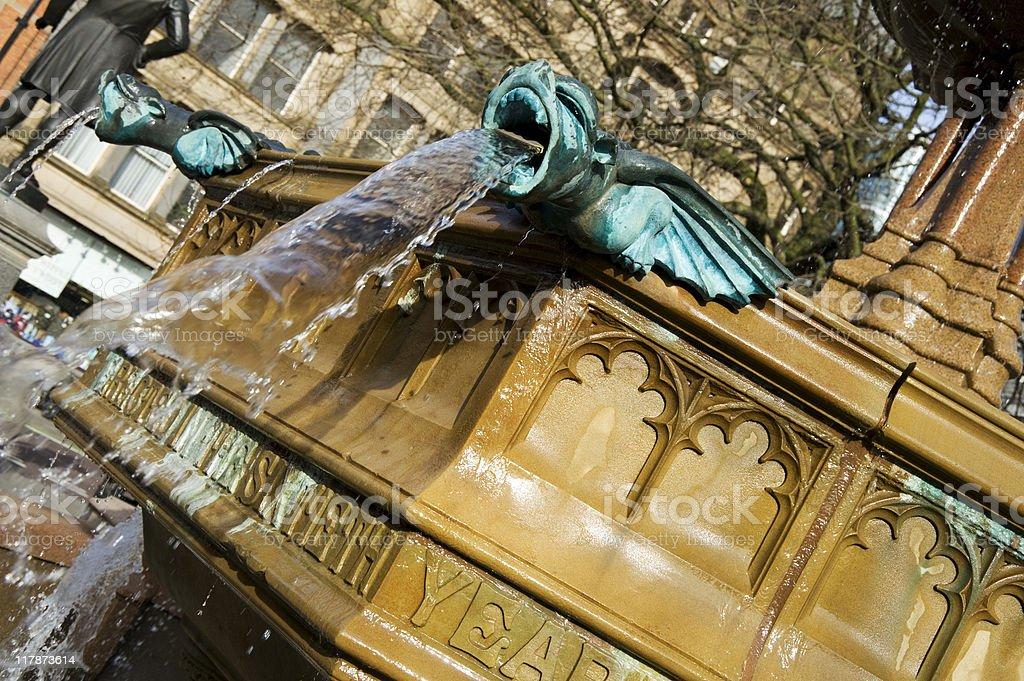 Manchester Fountain stock photo