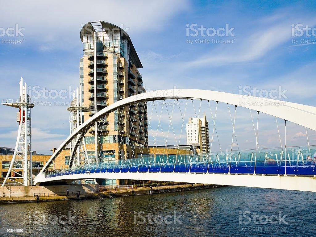 Manchester Lowry Bridge - Salford stock photo