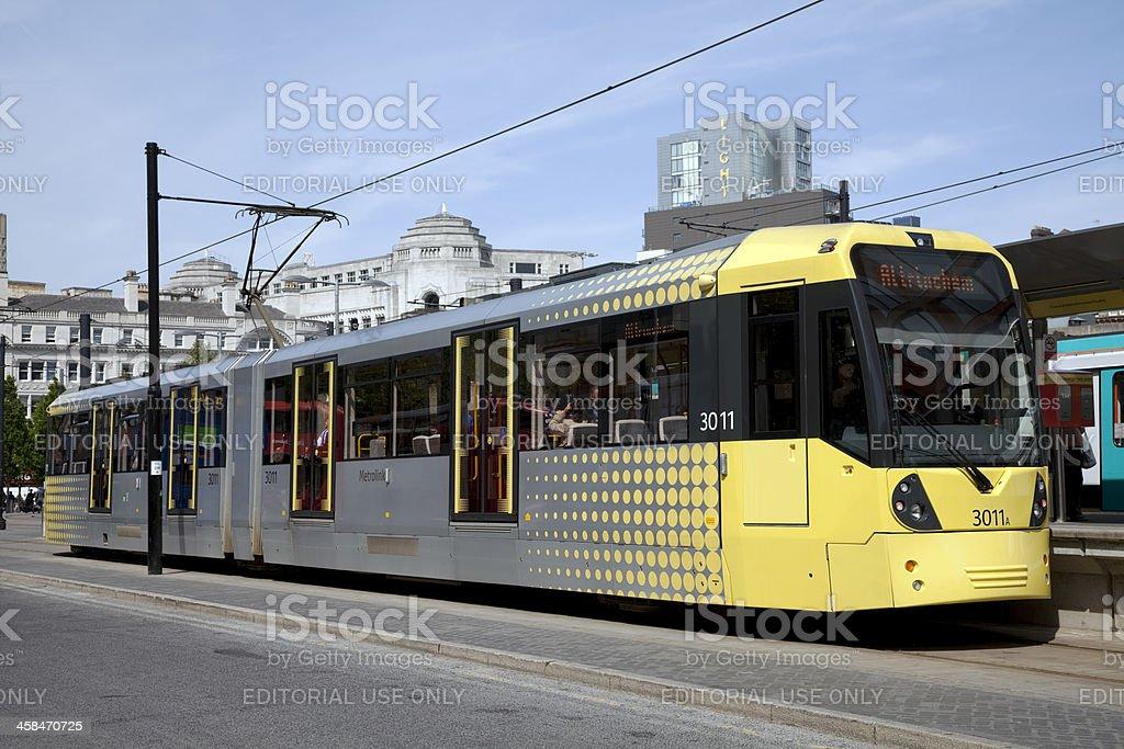 Manchester Metrolink tram stock photo