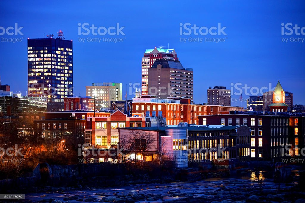 Manchester New Hampshire stock photo