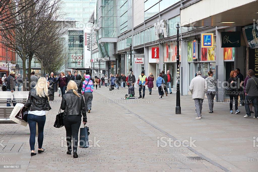 Manchester shopping stock photo