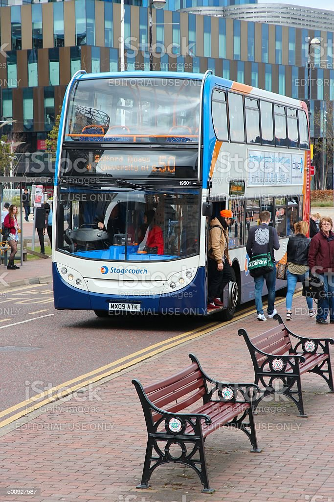 Manchester Stagecoach bus stock photo