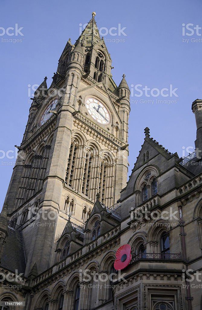 Manchester Town Hall, England, UK-See Lightbox Below for More royalty-free stock photo