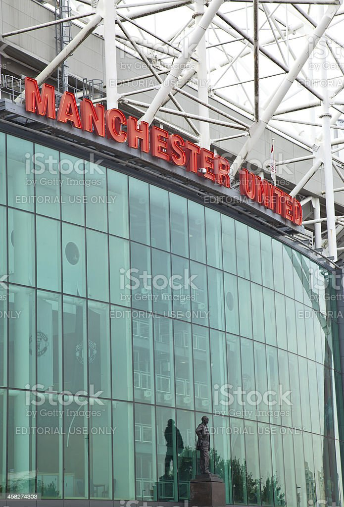 Manchester United Football Stadium royalty-free stock photo