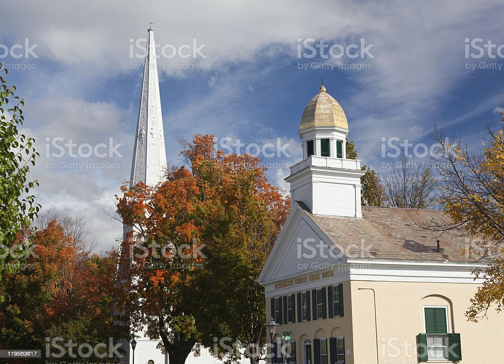 Manchester Vermont in Fall royalty-free stock photo