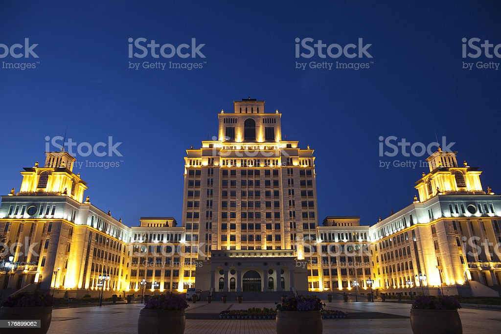 Manchuria night royalty-free stock photo