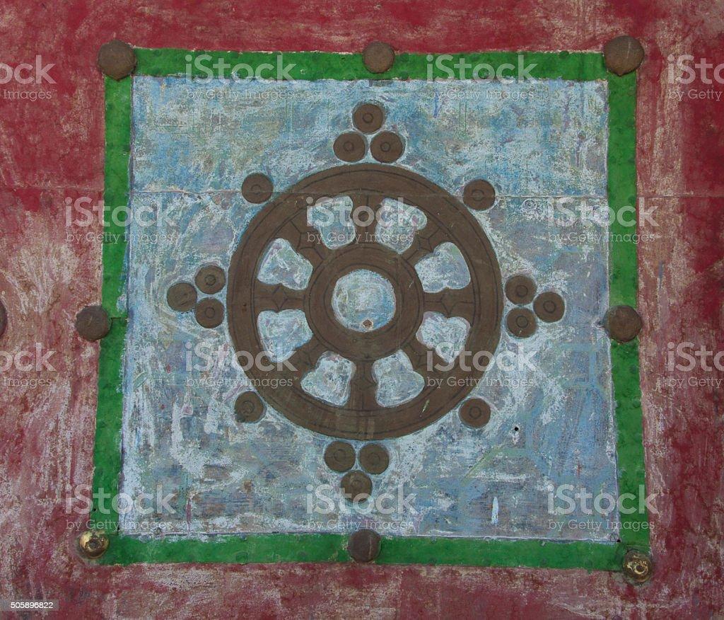Mandala graffiti stock photo