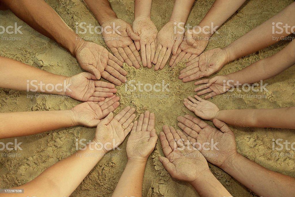 Mandala of 14 Hands royalty-free stock photo
