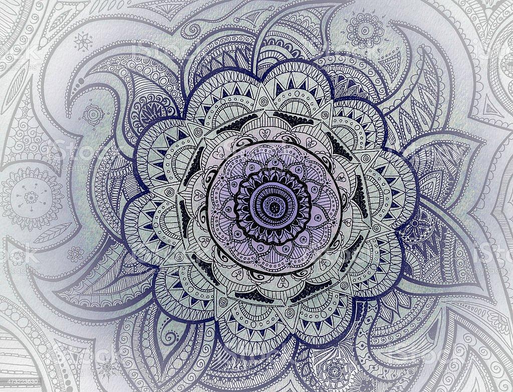Mandala Purple stock photo