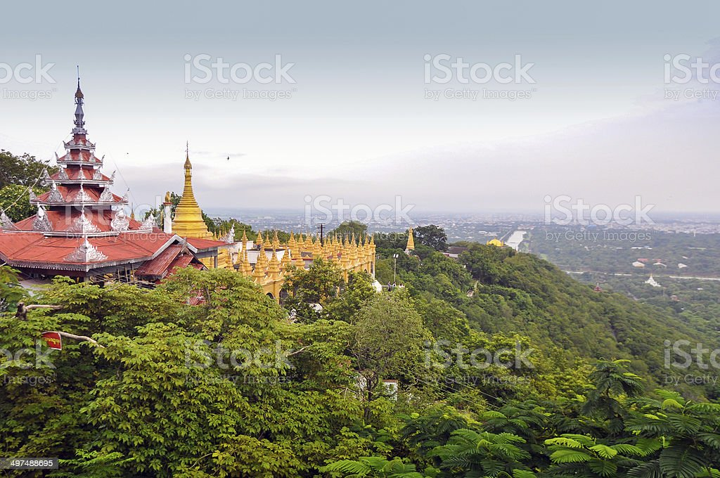 Mandalay Hill in Myanmar stock photo