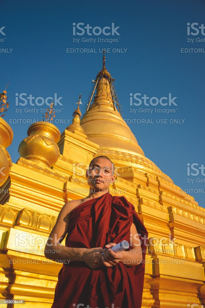 Mandalay monk stock photo