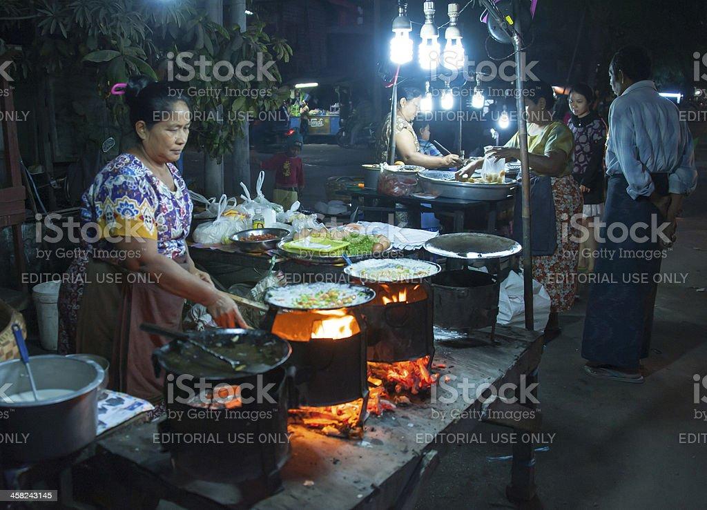 Mandalay Street royalty-free stock photo