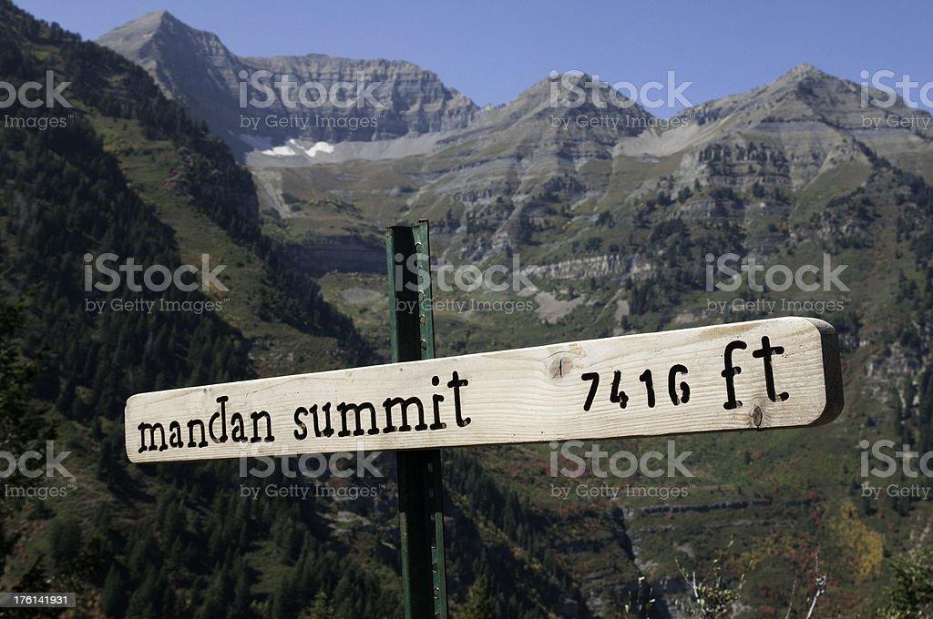Mandan Summit stock photo