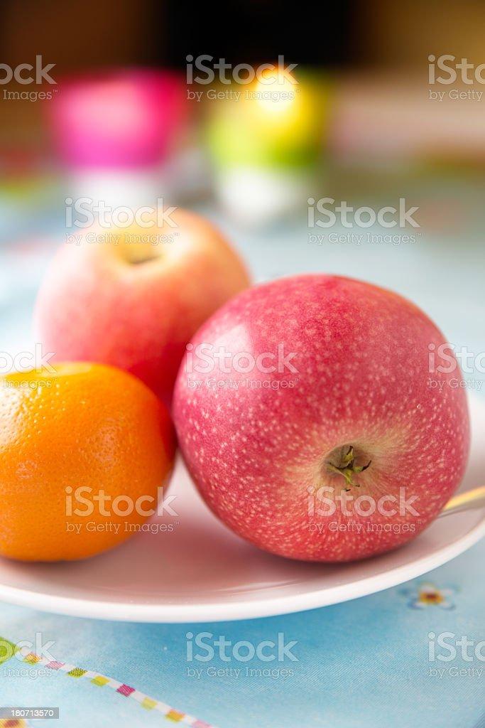 Mandarin & Apples royalty-free stock photo