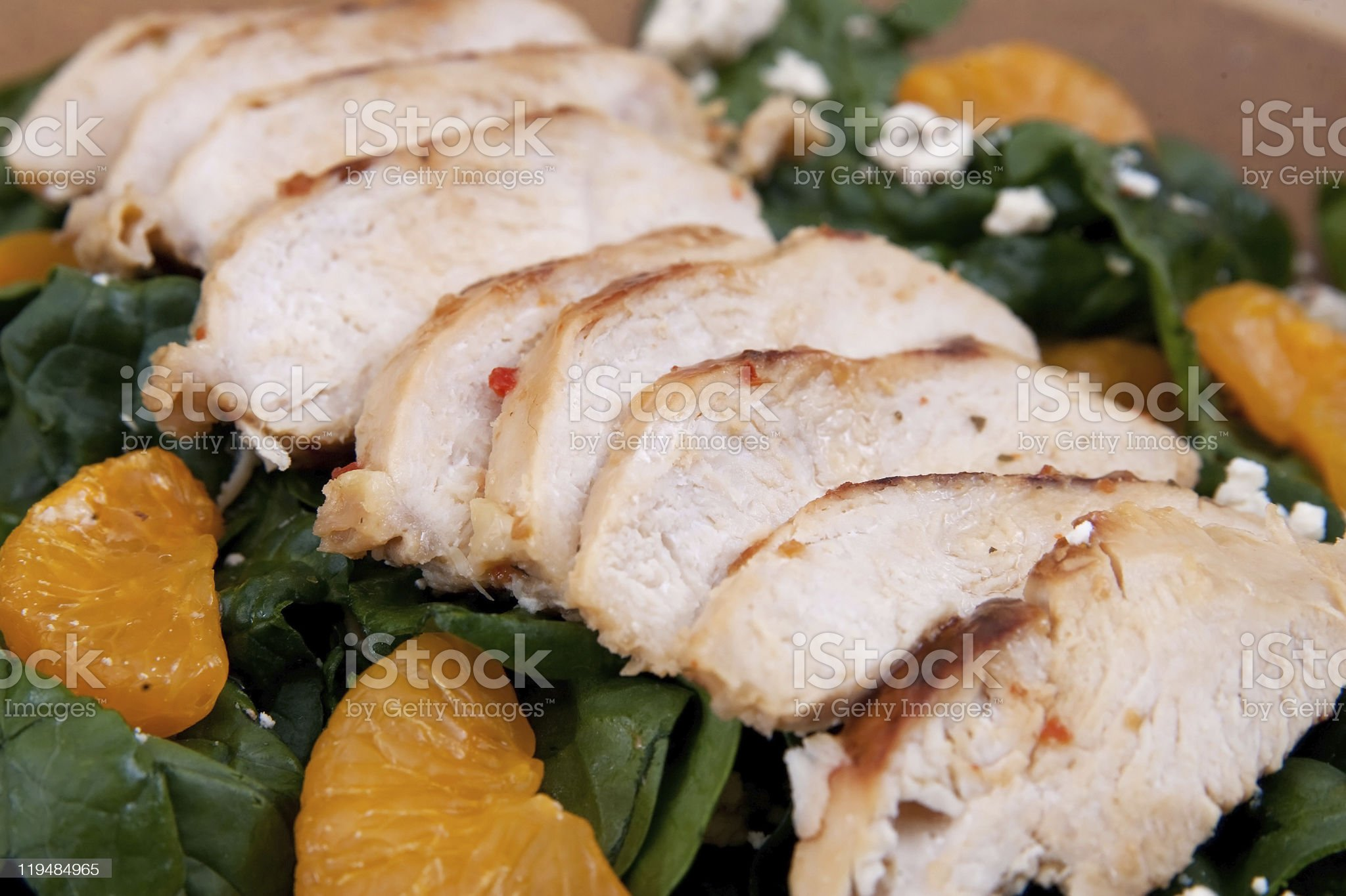 mandarin chicken salad royalty-free stock photo