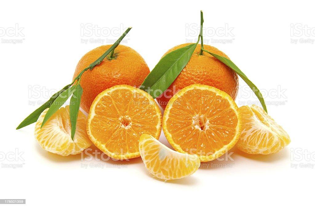 mandarin on white royalty-free stock photo