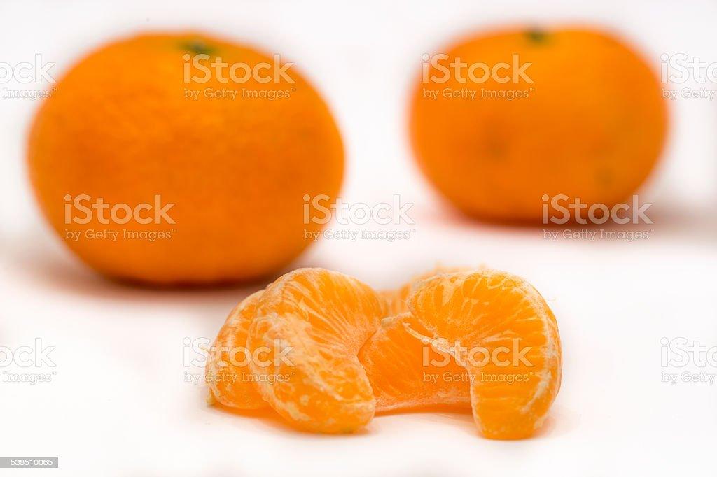 Mandarine background stock photo