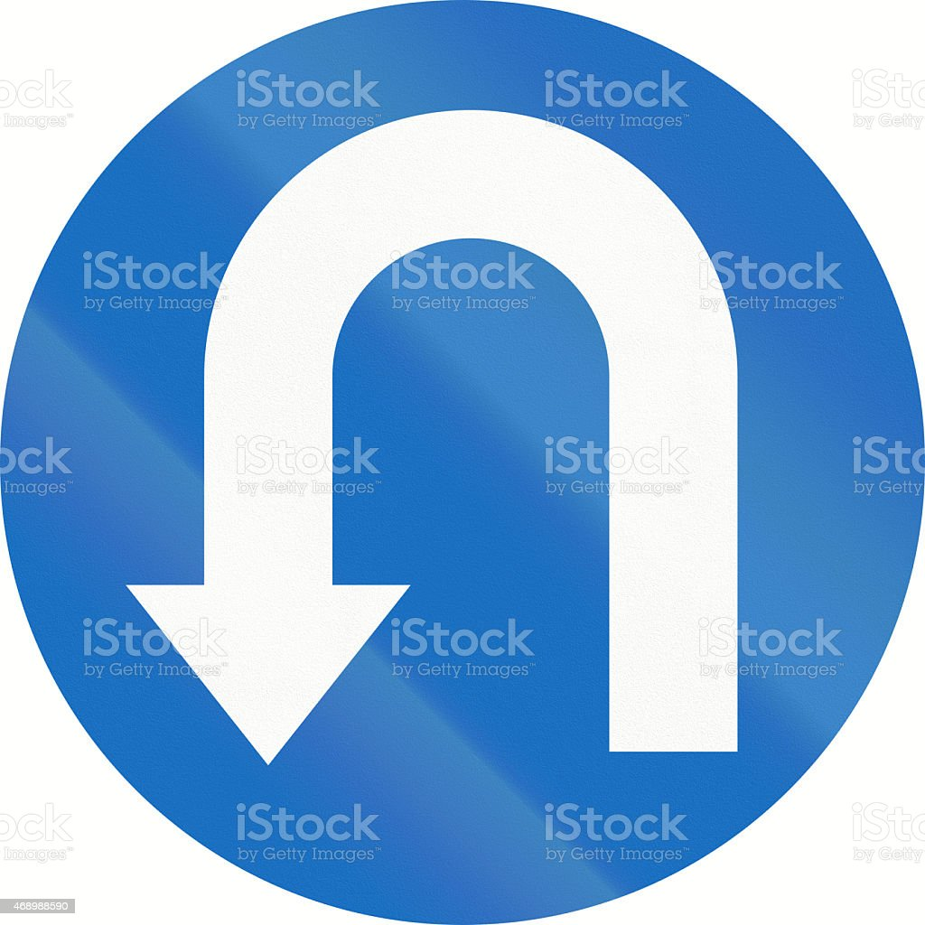 Mandatory U-Turn in Austria stock photo