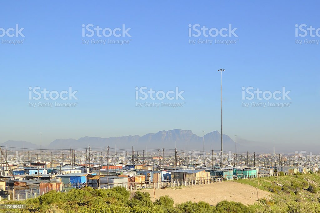 Mandela Park Shantytown stock photo