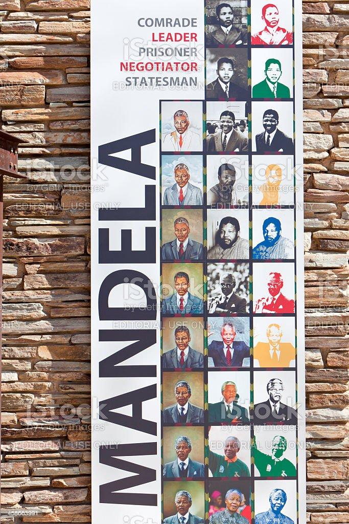 Mandela Poster at the Apartheid Museum stock photo