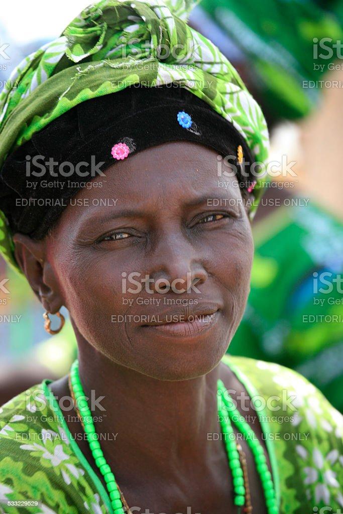 Mandigue Woman, Kunta  Kinteh Island, Gambia, West Africa stock photo