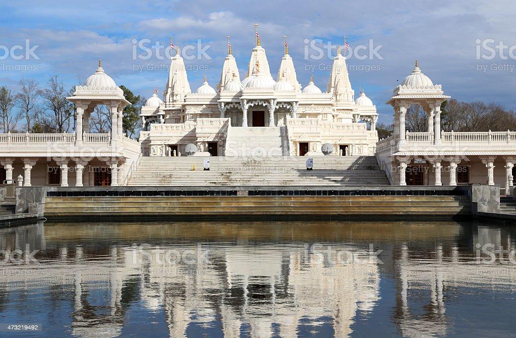 Mandir Hindu Shrine with reflection stock photo