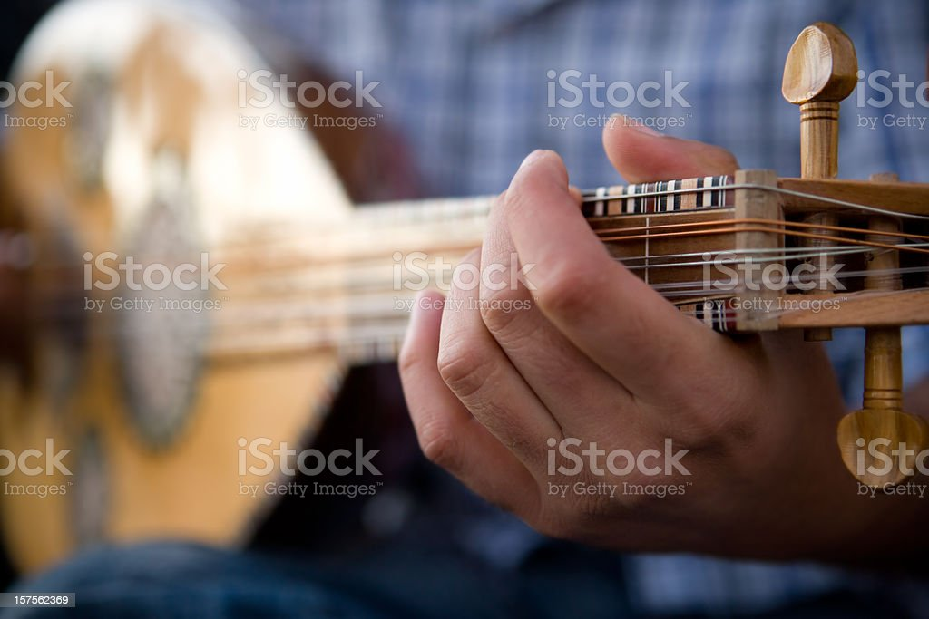 Mandolin and Musician royalty-free stock photo