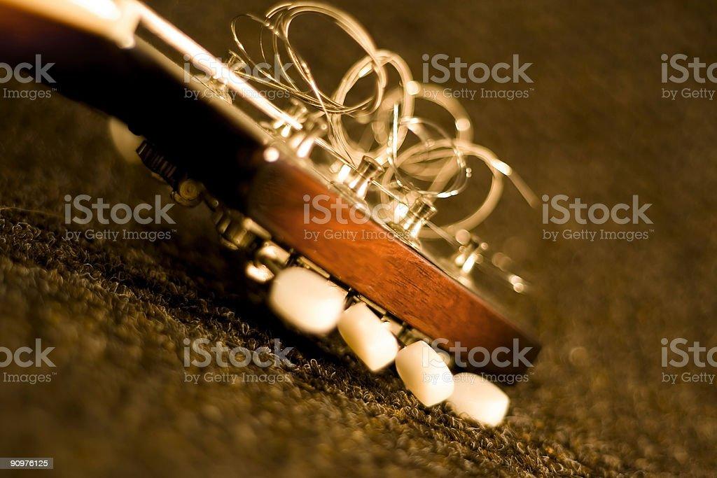 Mandolin Headstock stock photo