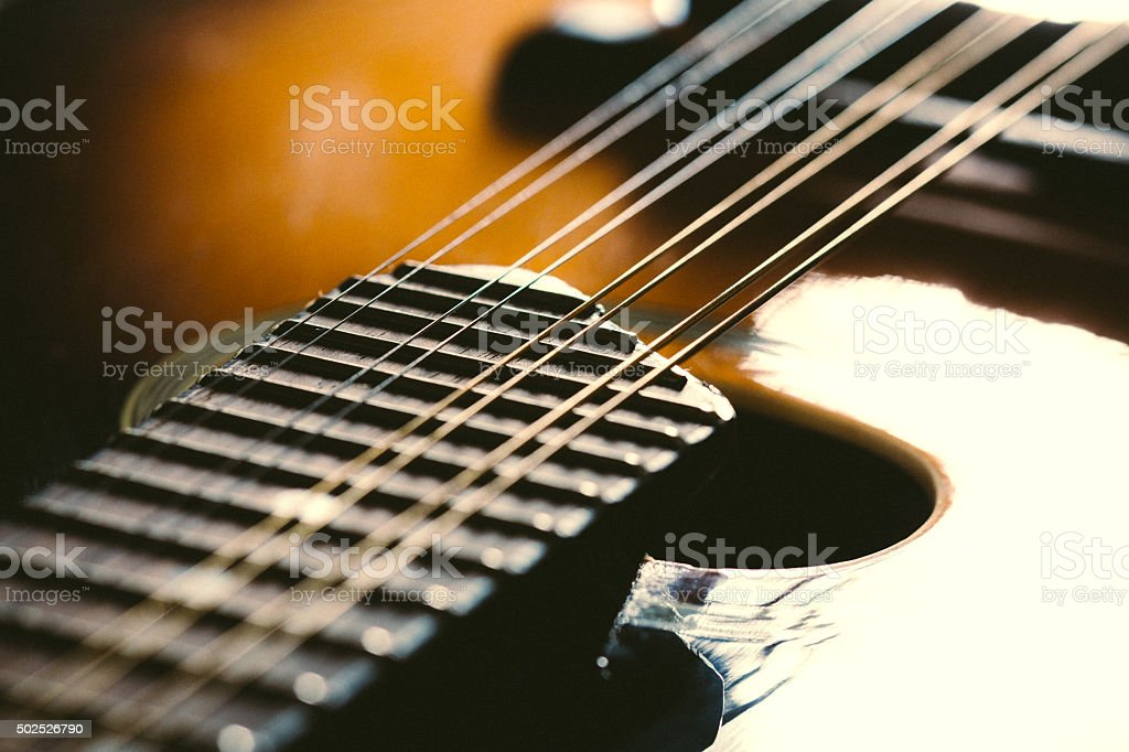 Mandolin Instrument Detail stock photo