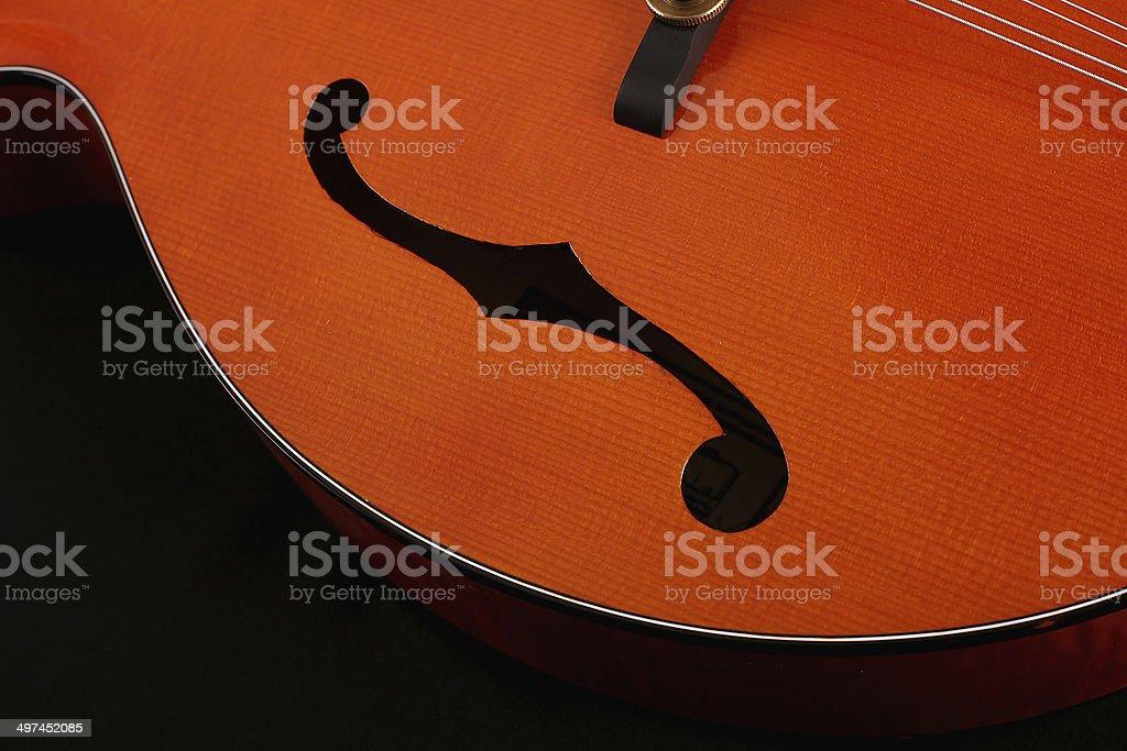 Mandolin isolated on black background stock photo