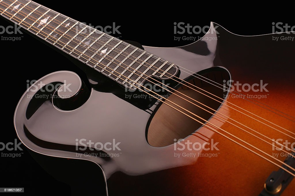Mandolin isolated on black stock photo