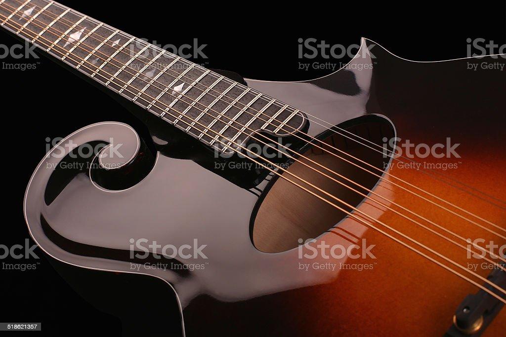 Mandolin isolated on black stock photo