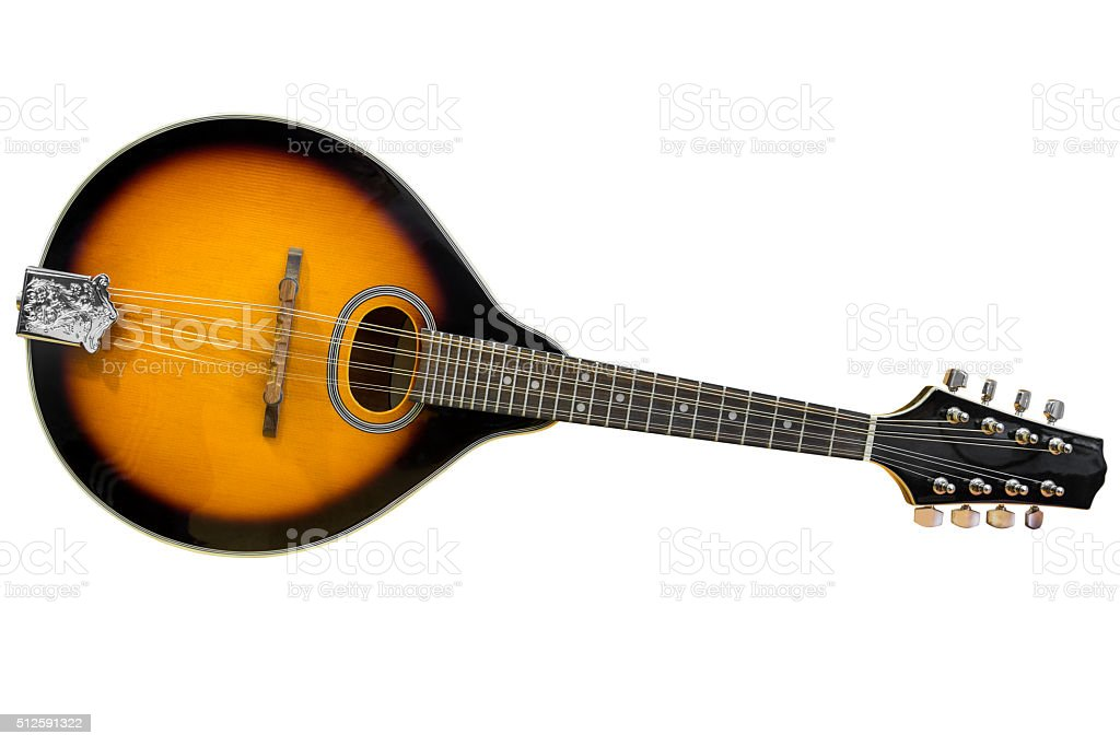 mandolin isolated on white background stock photo