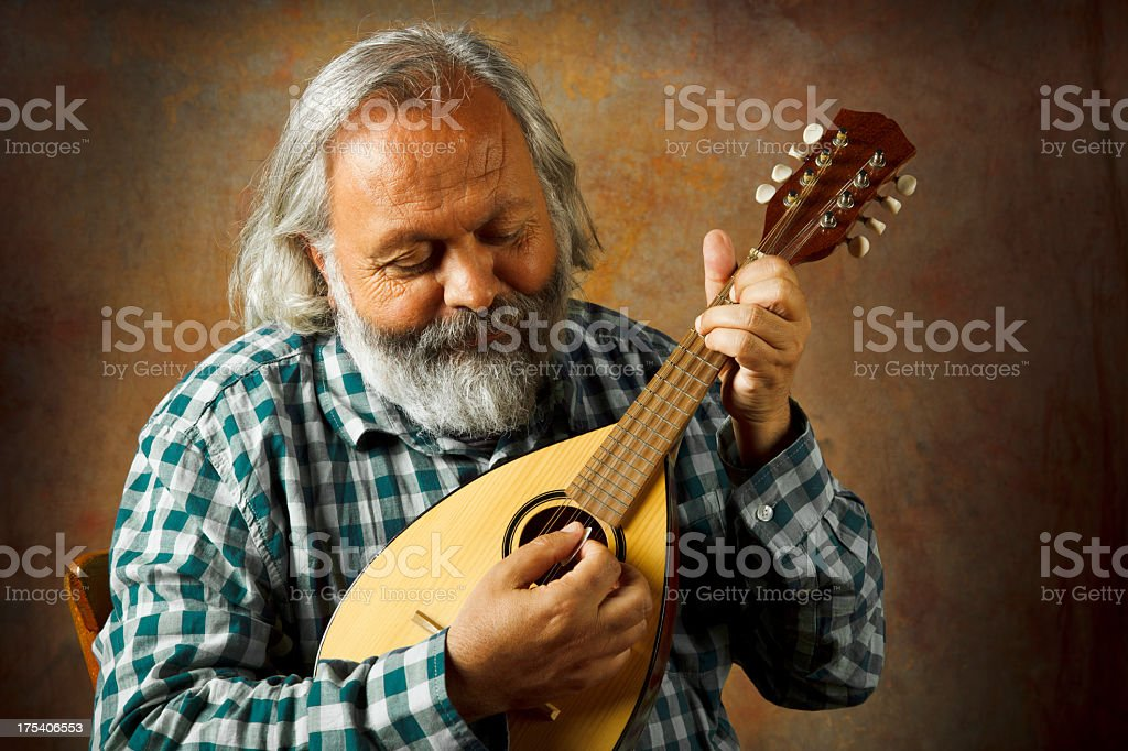Mandolin Man stock photo