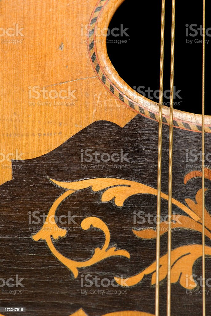 Mandolin top, close-up stock photo