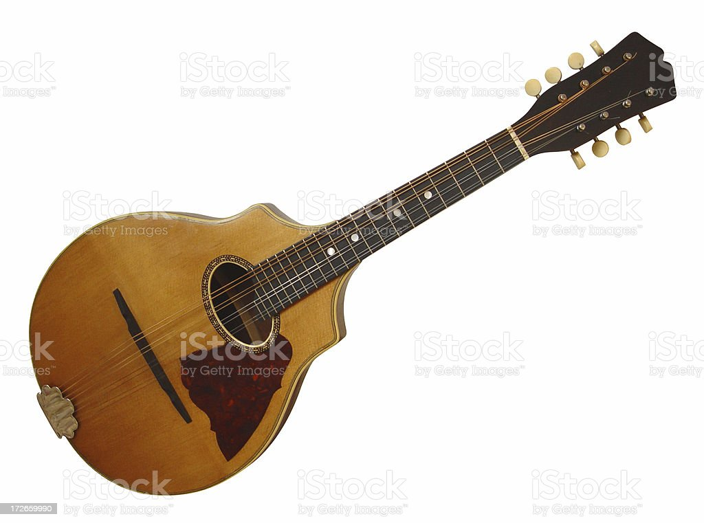 Mandolin with Cutpath royalty-free stock photo