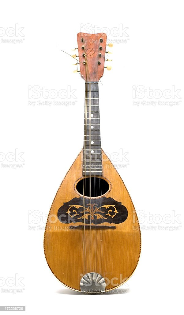 Mandolin with round back, from the front royalty-free stock photo