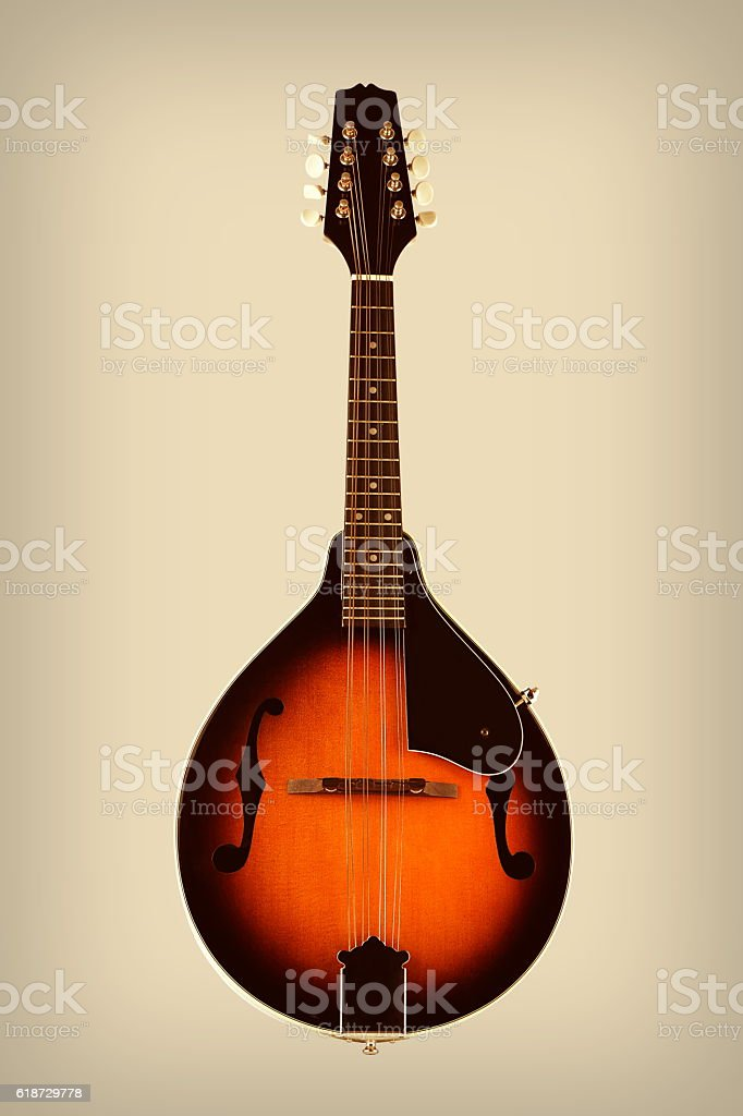 Mandolin with Vintage Effects stock photo