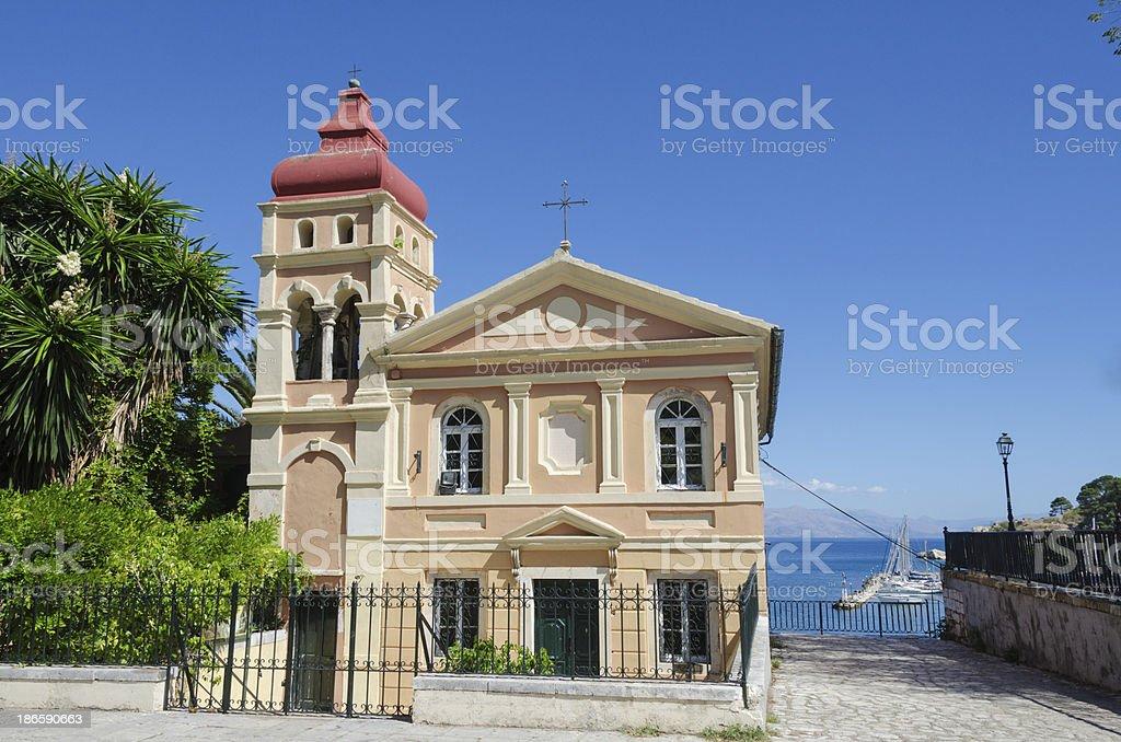 Mandrakinas Church royalty-free stock photo